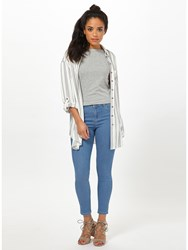 Miss Selfridge Petite Sofia Jeans Blue