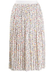Semicouture Floral Print Pleated Skirt 60