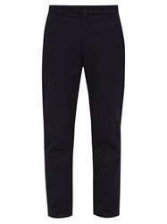 A.P.C. Marco Cotton Twill Trousers Navy