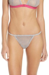 Chelsea 28 Women's Chelsea28 Lace String Thong Grey Sconce