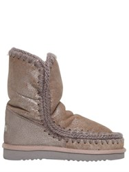 Mou 20Mm Eskimo 24 Metallic Shearling Boots