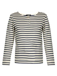 A.P.C. Veronica Breton Striped Top Blue White