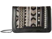 French Connection Vanessa Clutch Black Deco Lamb Pu Sequins Clutch Handbags