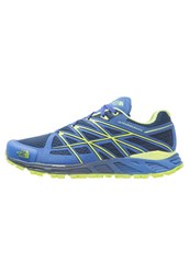 The North Face Ultra Endurance Trail Running Shoes Cosmic Blue Macaw Green