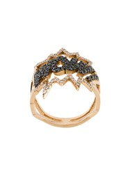 Diane Kordas Wow Ring 18Kt Rose Gold Metallic