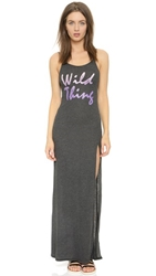 Wildfox Couture Wild Thing Jet Set Maxi Dress Clean Black