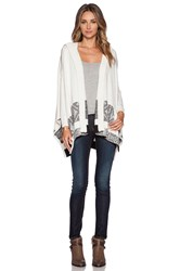 Twelfth St. By Cynthia Vincent Hoodedblanket Sweater Ivory