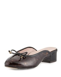 Faigel Low Heel Patent Mule Tortoise Taryn Rose Green