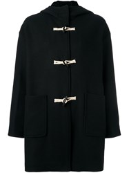 Vanessa Bruno Athe Hooded Duffle Coat Black