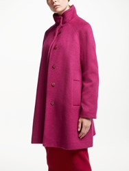 John Lewis Funnel Neck Swing Coat Raspberry