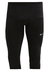 Nike Performance Essential Tights Black Game Royal Black Reflective Silver