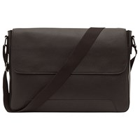 Reiss Martin Leather Messenger Bag Brown