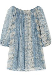 Mes Demoiselles Bonnie Printed Crepon Blouse Blue