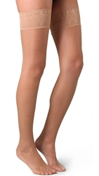 Falke Lunelle 8 Peacock Stay Up Tights Golden