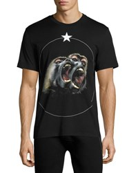 Givenchy Cuban Fit Monkey Brothers T Shirt Black
