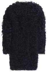 Karl Donoghue Shearling Coat Midnight Blue