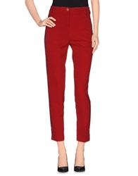 Scee By Twin Set Trousers Casual Trousers Women Maroon