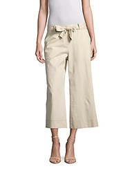 Lafayette 148 New York Solid Flared Cuff Pants Gold