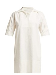 Masscob Coco Linen Blend Mini Dress White