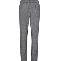 Camoshita Pleated Puppytooth Wool Trousers Black