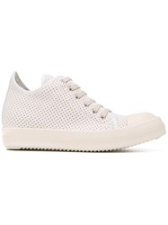 Rick Owens Drkshdw Perforated Sneakers Nude Neutrals
