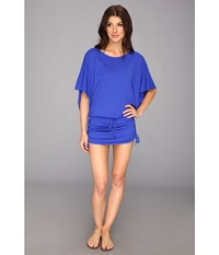Luli Fama Cosita Buena South Beach Dress Cover Up Electric Blue Women's Swimwear