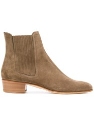 Louis Leeman Pointed Ankle Boots Men Leather Suede 44 Brown