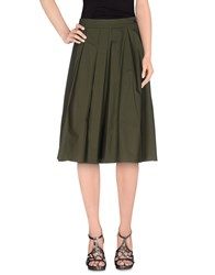Piazza Sempione Skirts Knee Length Skirts Women Military Green