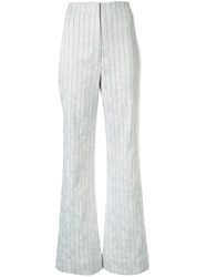 Manning Cartell High Waist Pin Stripe Trousers White