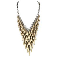 Laura Cantu Jewelry Teardrop Statement Necklace Silver