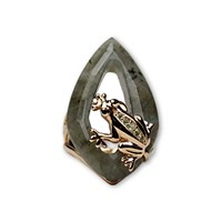 Bellus Domina Labradorite Frog Ring Gold