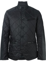 Michael Kors Leather Trim Quilted Jacket Black