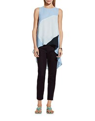 Vince Camuto Asymmetrical Hi Lo Colorblock Top Purple