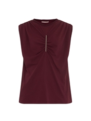 Christopher Kane Metal Bar Ruched Jersey Top