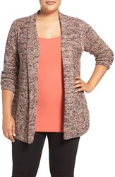 Nic Zoe Plus Size Women's Tea Rose Knit Cardigan
