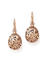 Pomellato Arabesque Earrings In 18K Matte Rose Gold Yellow Gold