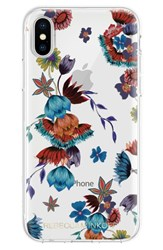Rebecca Minkoff Punk Floral Iphone X Case Blue Clear Multi Gold Foil