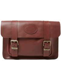 Trickers Tricker's Twin Buckle Satchel Burgundy Waxy