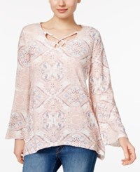 Styleandco. Style Co. Printed Bell Sleeve Top Only At Macy's Laughing Medallion