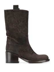 Officine Creative Suede Ankle Boots Brown