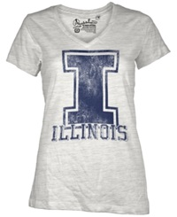 Royce Apparel Inc Women's Illinois Fighting Illini Charlie T Shirt White