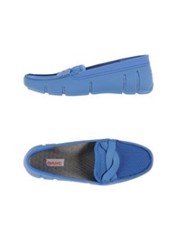Swims Moccasins Azure