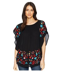 Scully Taylor Embroidered On Or Off The Shoulder Top Black Clothing