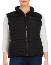 Marc New York Quilted Zip Front Vest Black