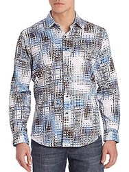 Robert Graham Cape Slim Button Down Shirt Blue