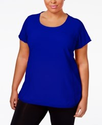 Calvin Klein Performance Plus Size Racerback T Shirt Royal Blue