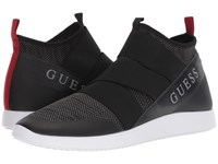 Guess Caesar Black Multi Fabric Slip On Shoes
