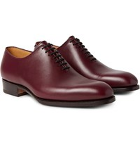J.M. Weston 404 Claridge Whole Cut Leather Oxford Shoes Burgundy