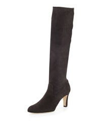 Manolo Blahnik Pascaputre Stretch Suede Tall Boot