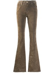 Don't Cry Velur Flared Jeans Neutrals